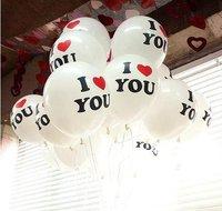 12 inch round love balloon I love you balloon Valentine balloon