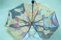 Whosale 10Pcs/lot Cartoon Umbrella Folding Sun-shading Umbrellas