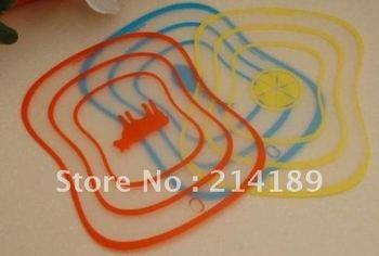 Free Shipping 4pss hotsale plastic cutting board,chopping board 30.5*20.5*0.08cm