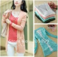 2012 New Autumn Korea Long Sleeves Ladies Cardigans , 5 Colors Size S-XXXL Free Shipping