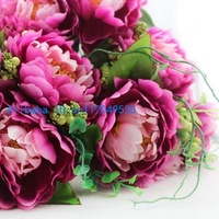 1 PCS Beautiful Artificial Peony Bouquets Silk Flowers Home Decoration 4 Colors Available F99