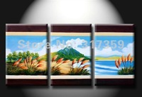 Free shipping Landscape canvas art 3pc/set oil paintings  No framed acrylic paintings art