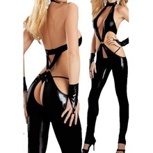 Free Shipping CX81# Catwoman Feline Catsuit Teddy Ladies Pole Dancing Clothes Women Sexy Lingerie Open Underwear Club Costume(China (Mainland))