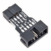 10PCS 10 Pin to Standard 6 Pin Adapter Board For ATMEL AVRISP USBASP STK500 Convert