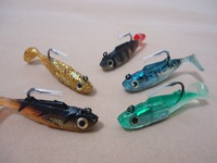 Free shipping 5pc/lot soft fishing bait soft lures length 6cm weight 9g sink water fishing lure fishing tackle