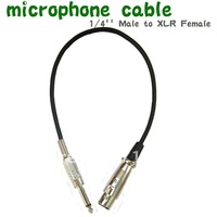 FREE SHIPPING 5pcs/LOT 1.3 foot Professional Microphone Cable 1/4'' Male to XLR Female