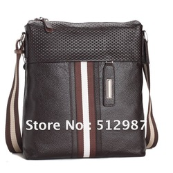 Free shipping 2013 new arrival world famous brand male genuine leather shoulder bag cowhide shoulder messenger bag S2012-7(China (Mainland))