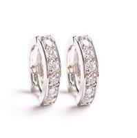 Earring ear clasp high-end luxury parquet zirconium Umbilicaria buckle Korean fashion jewelry E88049 Zircon earrings