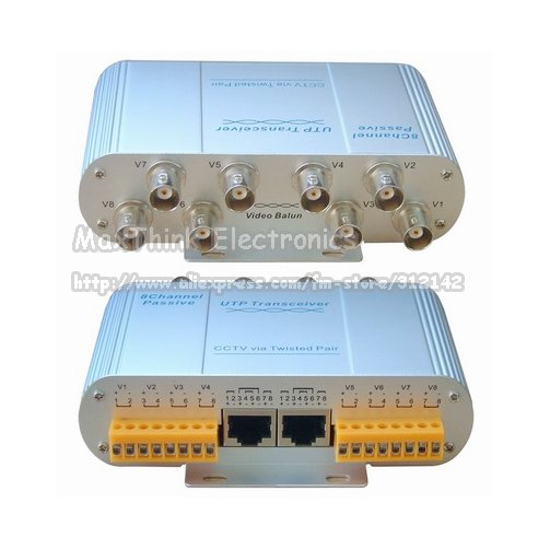 8 Ch Passive Receiver Transmitter BNC Video Balun for CCTV over UTP cable, 4pcs /lot ,Wholesale(China (Mainland))