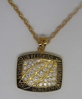 1991 Washington Redskins Supe Bowl World Championship pendant, rare Top quality, super elegant FREE SHIPPING, customize