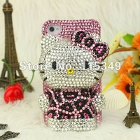 2013 new arrival For Apple iPhone 5s 5 Case Luxury DIY 3D bling diamond pearl rhinestone hard back cover free shipping