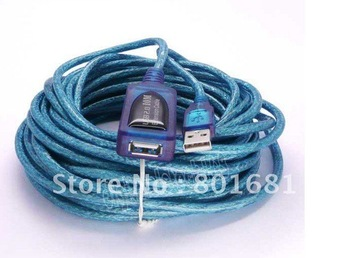 30ft USB 2.0 A Male to Female ACTIVE Extension Data Cable 10M  +Free shipping +tracking number