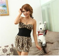 2013 Hot Sale Fashion Ladies Sexy Party Leopard Dress Retail
