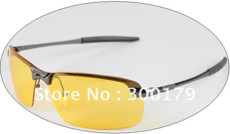 Best Selling Band name designer polarized yellow lenses night vision driving glasses 8011 Drivers Goggles Reduce Glare(China (Mainland))