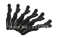 FREE SHIPPING!!!  HOT SELL!!!   6pcs Black Matte Sectioning Clips Clamps Hairdressing Salon Hair Grip