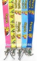 Free shipping Wholesale cartoon mixed Pikachu pokemon 20pcs Neck Lanyard straps for MP3/4  DS lite