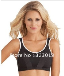 FREE SHIPPING,Shockproof quick-drying,High-intensity sports bra,No rims Big yards large cup Vest underwear(China (Mainland))
