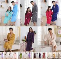 Plus size plus size coral fleece robe thickening coral fleece bathrobe lovers sleepwear ,Free shipping