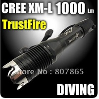 1000 Lumens Cree T6 100 Meter Waterproof  Diving  Flashlight FREE Shipping