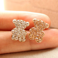 A069 accessories corsage czech diamond bear smiley small brooch corsage female
