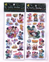 Free shipping Kids 3D Flash Foam Stickers Cartoon mickey & Minnie Mouse Pattern Aircraft Transport Kids Toys