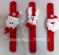 wholesale-FREE SHIPPING Christmas  snowman  Santas Reindeers  Wrist Strap 3 designs hand band Wristband kids childrens