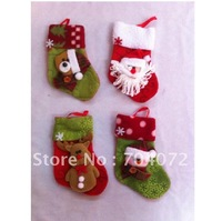 wholesale-Free shpping   fabric Christmas socks,Xmas  santa socking, Christmas gifts, santa snowman and reindeer