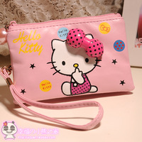 Hellokitty powder bow double layer coin purse camera bag mobile phone bag mp345