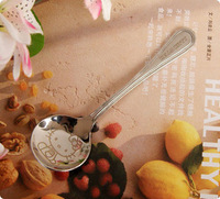 Hello kitty DORAEMON stainless steel circle spoon spoon Large Medium