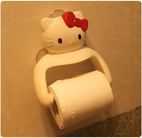 Cartoon kitty reeling-up stand towel hanging bathroom towel rack three-dimensional cartoon tissue box