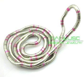 50pcs/lot, New Wholesale White K Pink Mixed Colors Iron Fashion Jewelry Trendy Flexible Snake Bendy Jewelry, Free Shipping