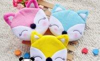 12PCS Cute FOX Plush Hand Purse & Wallet BAG Pouch Case ; Mini Bag Storage Pendant BAG Pouch Case