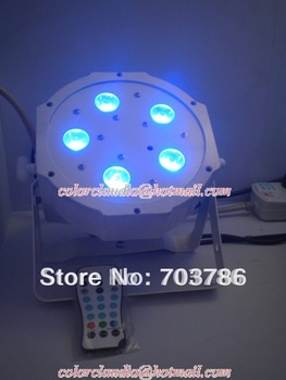 6pcs/lot Free Shipping 2012 NEW Infrared 5pcs*3W Quad LEDs RGB Mega Quadpar Profile , DMX Par can