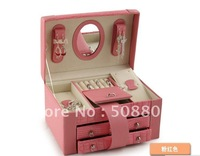 Delicate jewel case jewel boxs gift box christmas gift birthday gift PINK free shipping 150