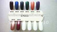 Free shipping in 3-4 days uv&led soak off uv gel nail polish (1 set=10colors+1top+1base)