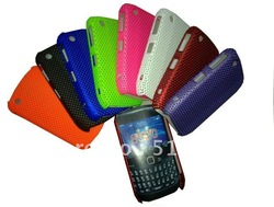 8520 case, DHL/FEDEX Free Ship 100pcs For Blackberry Curve 8520 Net mesh hard case(China (Mainland))