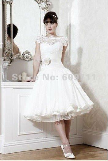 Online kopen wholesale kleine witte trouwjurk jurk uit for A little off the top salon