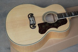 free shipping new arrival natural j200 acoustic electric guitar AAA maple back with fishman EQ(China (Mainland))