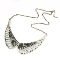 Fashion Korea Style Statement Angel Wings Necklace Collar Necklace Jewelry Winter Short  Sweater Chain FN159
