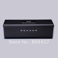 Free Shipping! New Mini Black Speaker For PC MP3 MP4 Player with TF Card Slot FM Radio