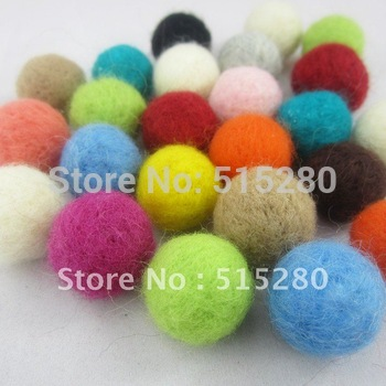 200pcs Mulit-Colors 20mm Round Wool Felt Ball For Christmas Decoration