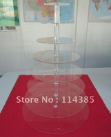 8 Tier Round Maypole Clear Acrylic Cupcake Stand for Weddings & Paties