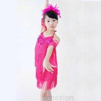 Good quality kids latin dress, latin costume, Free shipping