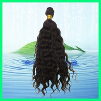 100% Brazilian Hair Virgin Human Hair Extensions, Deep wave,Machine Weft, 3pcs lot natural color +DHL Fast Delivery