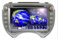 Intelligent Car DVD Player for Nissan-March with GPS, IPOD, Bluetooth, digital touch screen, steering wheel control