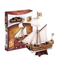 Cubicfun 3d puzzle paper Ship model jigsaw puzzle  diy toys Yacht Sailboat T4010H