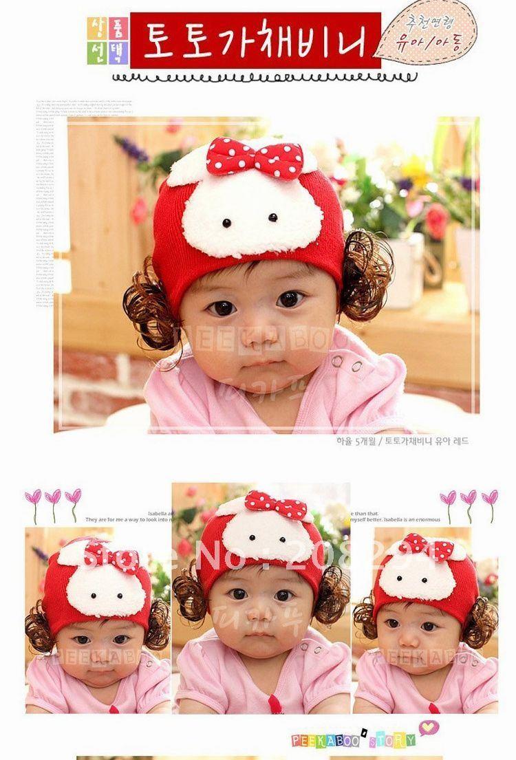 Female baby wig hat(China (Mainland))