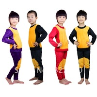Children Thermal underwear Baby Warm clothing Golden Flower Kids suits Pajamas Thicker Nightwear Casual clothes