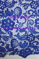Free shipping!!! French lace,chemical lace,nice new design lace fabric BCL6028 ROYAL BLUE