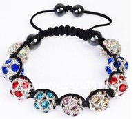 Браслет из бисера Impressive beads jewelry! Semi precious stones, gemstone jewelry, cheap jewelry- Natural blue agate10mm round beads bracelet B0473